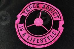 Veste Polaire Femme Brodée Rose Truck Addict