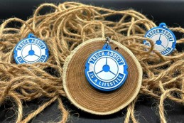 Porte clés Truck Addict® - Bleu & Blanc