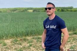 T-shirt Homme Modern Trucker - Bleu Marine