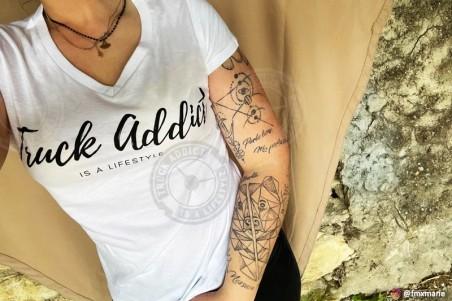T-shirt Femme Modern Trucker - Blanc
