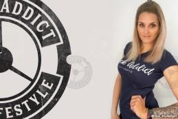 T-shirt Femme Modern Trucker - Bleu Marine