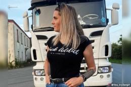 T-shirt Femme Modern Trucker - Noir