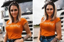 T-shirt Femme Modern Trucker - Orange