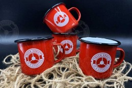 Mug Truck Addict Emaillé Rouge